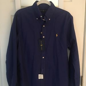 NWT Navy blue Ralph Lauren button down